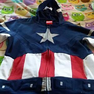 Character captain America hoodie